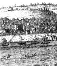 image from the EMIAC84 leaflet showing trading ships on the river