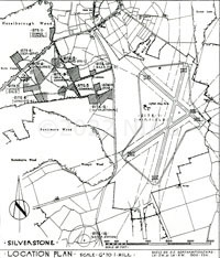 old map of the airfield