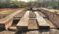 foundations of 3 boilers excavated at Califat collier